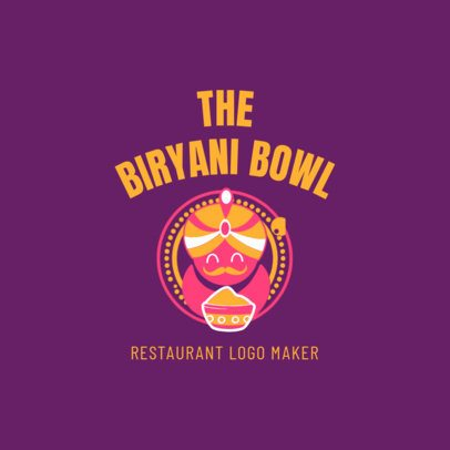 Indian Food Logo Maker for a Biryani Restaurant 1828c