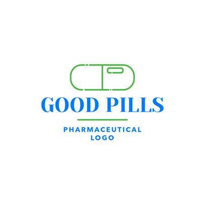 Pharmaceutical Logo Maker with Pill Clipart 1857d