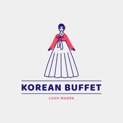 Restaurant Logo Maker for a Traditional Korean Buffet 1922