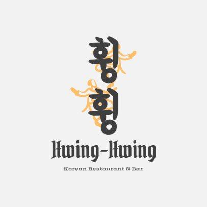 Minimalistic Korean Food Logo Maker 1920e
