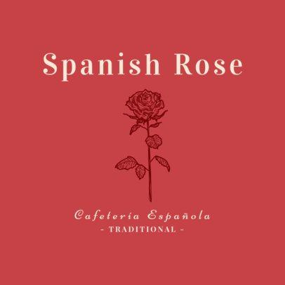 Spanish Restaurant Logo Maker for a Spanish Café 1918c