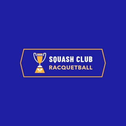 Racquetball Logo Maker for a Squash Club 1932b