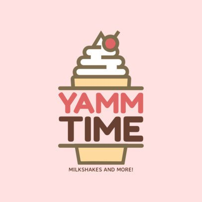 Ice Cream Shop Logo Maker with Ice Cream Clipart 1233c