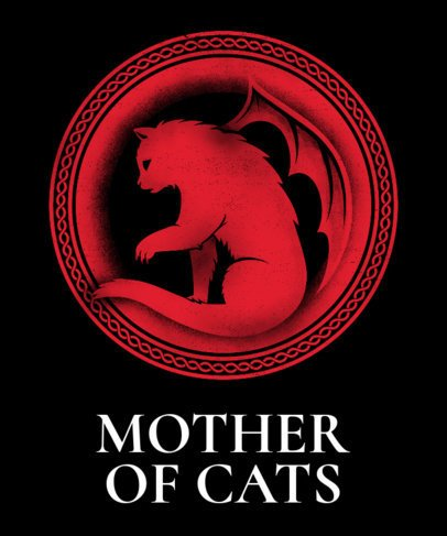 Funny Game of Thrones T-Shirt Design Maker for Cat Lovers 24f