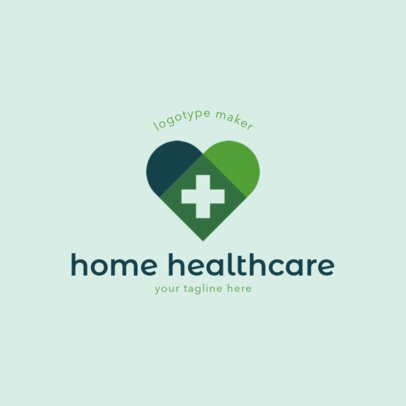 Home Healthcare Logo Maker with Heart Clipart 1802