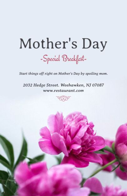 Mother's Day Online Flyer Maker for Florists 431f
