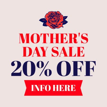 Mother's Day Discount Banner Maker 1049f
