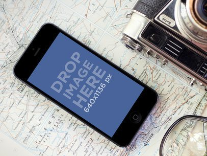 Black iPhone 5 Map Camera