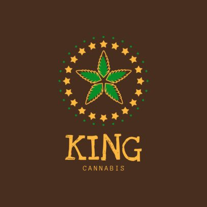Cannabis Logo Maker with Weed Graphic 1780c
