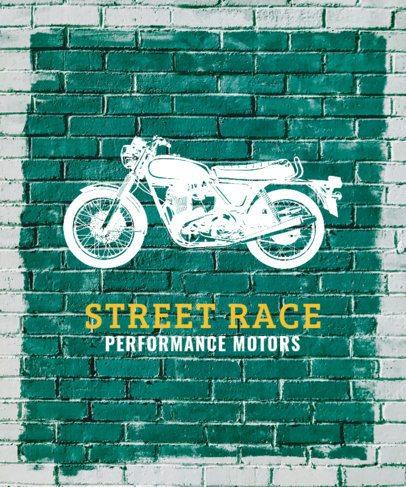 Grafitti Inspired Vintage Biker T-Shirt Design Maker 330b
