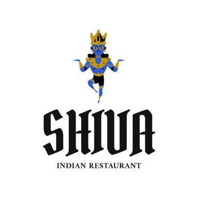 Indian Restaurant Logo Maker with Krishna Clipart 1831