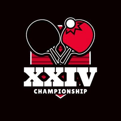 Ping Pong Logo Maker for Table Tennis Championships 1625e