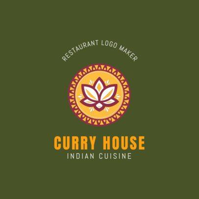 Indian Cuisine Logo Maker for an Indian Restaurant 1836a
