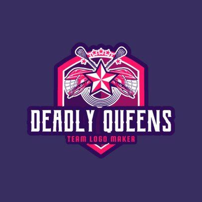 Lacrosse Logo Design Template for a Women's Lacrosse Team 1594a