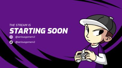 Starting Soon Overlay Template for a Twitch Gamer 1221b
