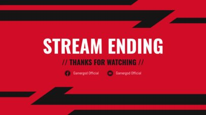 Twitch Ended Stream Overlay Generator with Dynamic Graphics 1220e