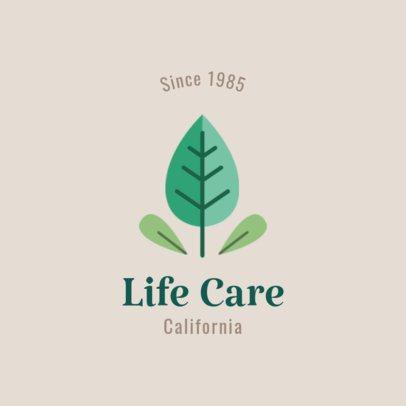 Life Care Logo Maker with Organic Graphics 1802f