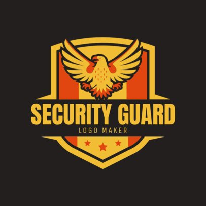 Private Security Company Logo Maker with an Eagle Badge 1787