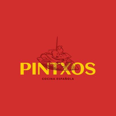 Contemporary Spanish Cuisine Logo Maker 1916a