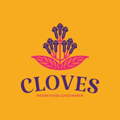 Indian Food Logo Maker with Cloves Clipart 1834