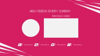 YouTube End Screen Template Promoting Related Videos 1252c