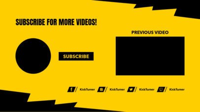 Subscribe Now YouTube End Card Template with a Lightning Frame 1252d