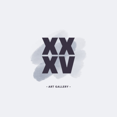 Modern Logo Maker for an Art Gallery 1187f
