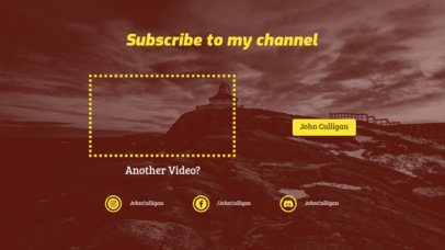 YouTube End Card Maker with a Subscribe Now Invite 1258c