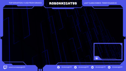 Twitch Overlay Design Template with a High-Tech Style 1245a