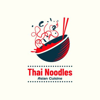 Restaurant Logo Maker for a Thai Noodles Place 1838a