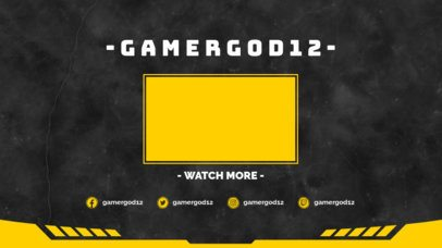 Simple YouTube End Card with a Watch More Videos Panel 1265c