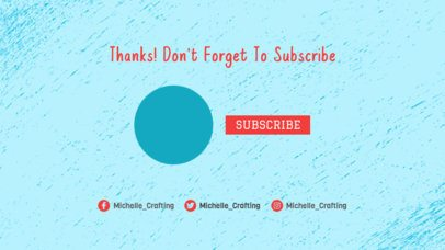 Simple YouTube End Card Maker with a Subscribe Button 1261d