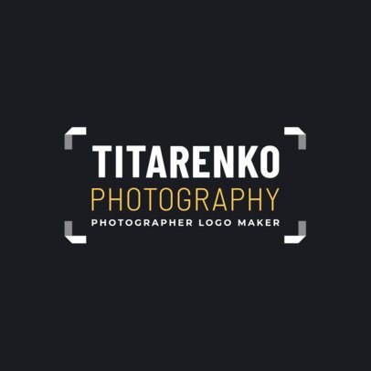 Stylish Logo Maker for an Independent Photographer 2171d