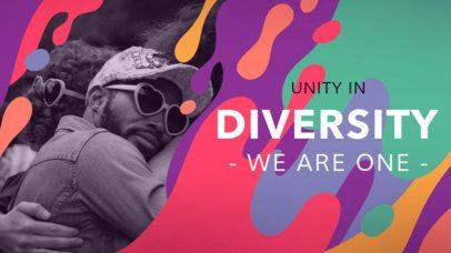 Youtube Thumbnail Design Template with a Diversity Theme 1299e
