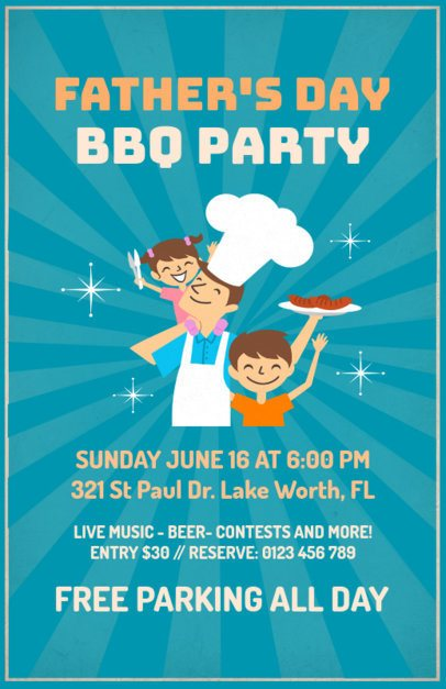 BBQ Party for a Father's Day Flyer Maker 78f