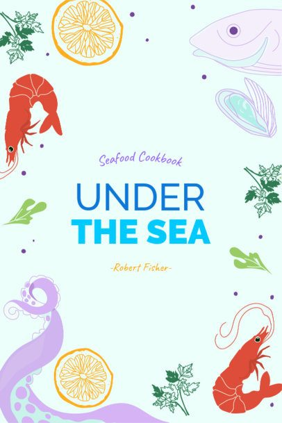 Cookbook Cover Creator with Seafood Clipart 525b