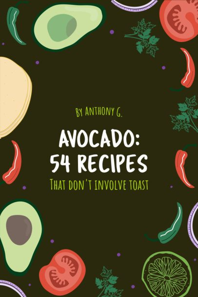 Cookbook Cover Generator with Vegetables Clipart 525e