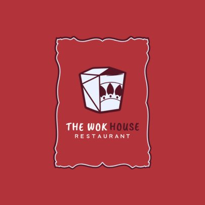 Thai Restaurant Logo Template for a Wok House 1841e