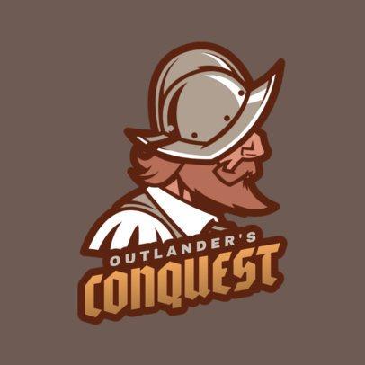 Gaming Logo Maker Featuring a Crusader 1847g