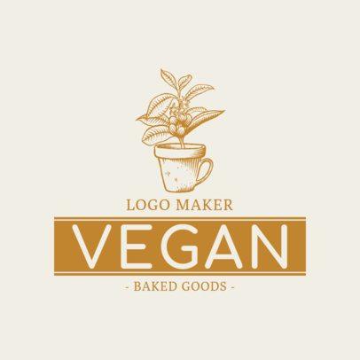 Vegan Bakery Logo Maker 1113e