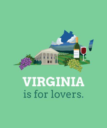 Virginia Landscape T-Shirt Design Maker 1382e