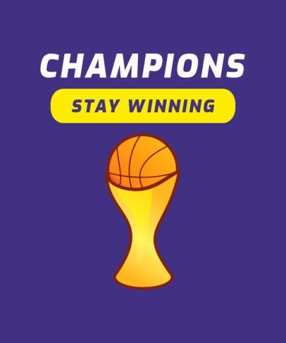 Basketball Fan T-Shirt Design Maker 906g