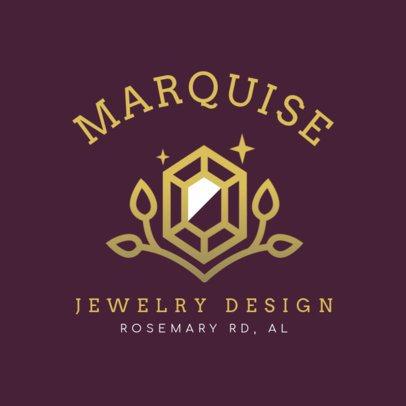 Jewelry Design Logo Maker Featuring a Precious Stone Graphic 2189d