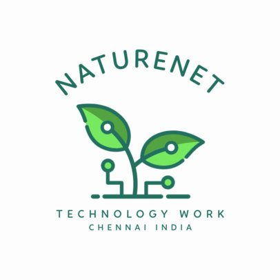 Logo Template for a Nature-Friendly Tech Company 2175c