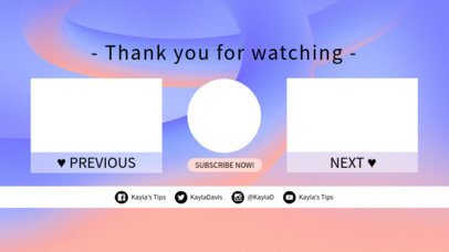YouTube End Screen Maker with Soft Colors 1428d