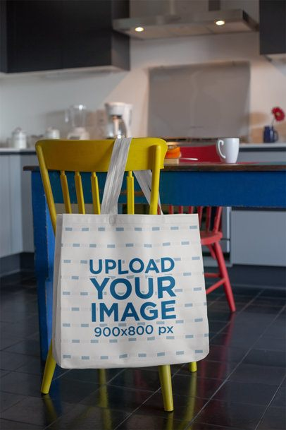 Grocery Bag Mockup Featuring a Colorful Breakfast Table 27612