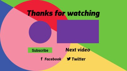 YouTube End Screen Template with an Abstract Geometric Background 1443e