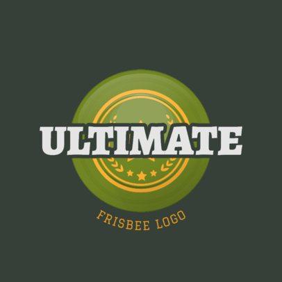 Frisbee Team Logo Generator Featuring a Circular Badge 2224b