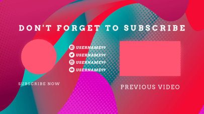 Colorful YouTube End Card Template with a 2D Gradient Style 1266d