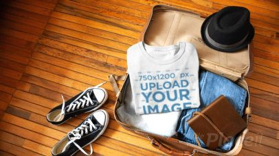 Apparel Video Featuring a T-Shirt in an Open Suitcase 13079